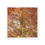 Branches of Orange Leaves Autumn Nature Paper Napkin