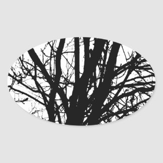 Branches Oval Sticker