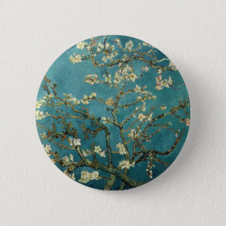 Branches with Almond Blossom by Vincent Van Gogh Pinback Button