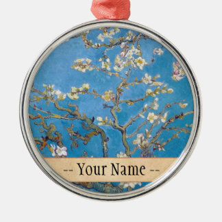 Branches with Almond Blossom Van Gogh painting Metal Ornament