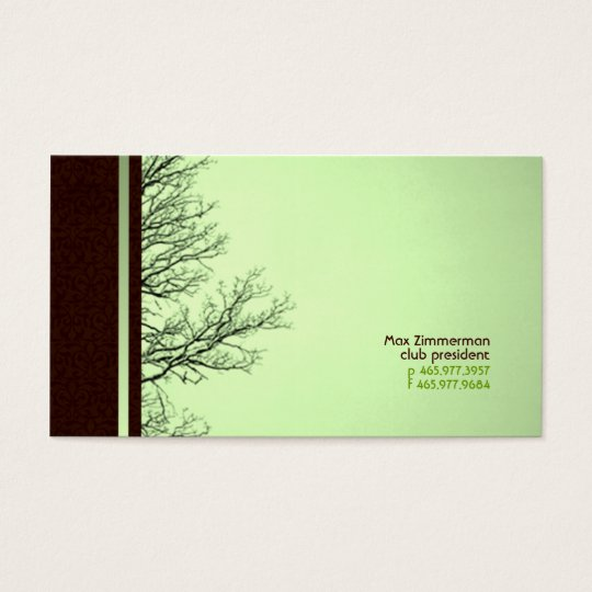 Branching Out Green Business Cards