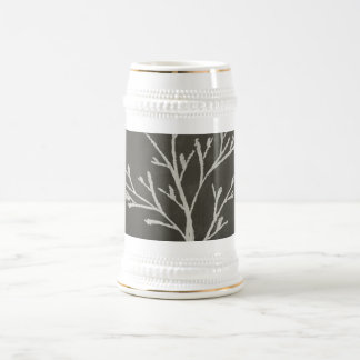 Branching Tree Sapling Chalk Drawing Beer Stein