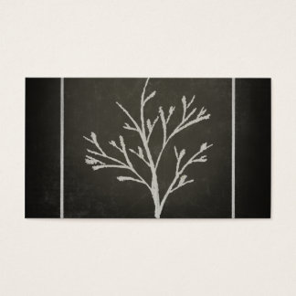 Branching Tree Sapling Chalk Drawing Business Card
