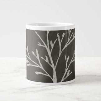 Branching Tree Sapling Chalk Drawing Giant Coffee Mug