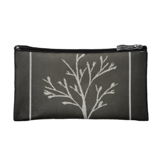 Branching Tree Sapling Chalk Drawing Makeup Bag