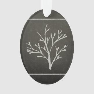Branching Tree Sapling Chalk Drawing Ornament