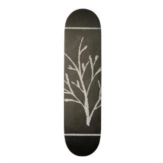 Branching Tree Sapling Chalk Drawing Skate Board Decks