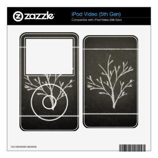 Branching Tree Sapling Chalk Drawing iPod Video 5G Skins