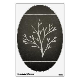 Branching Tree Sapling Chalk Drawing Wall Sticker