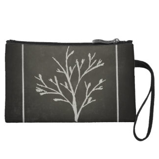 Branching Tree Sapling Chalk Drawing Wristlet Wallet