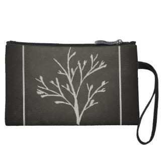 Branching Tree Sapling Chalk Drawing Wristlet Wallet