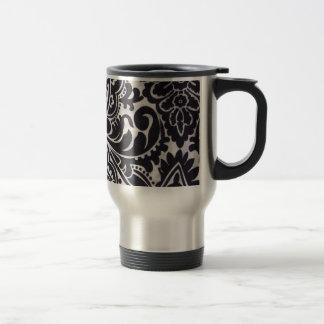 branco del preto e del abtrato del padrão taza de viaje de acero inoxidable