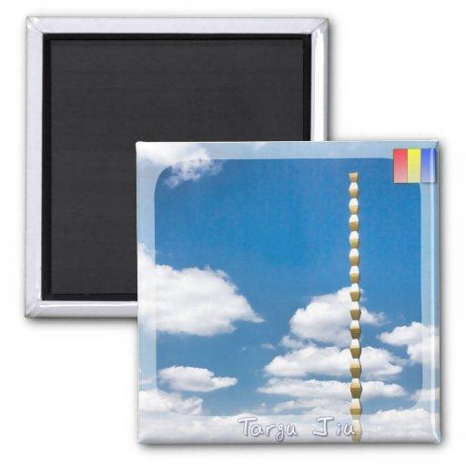 Brancusi's Infinite Column 2 Inch Square Magnet