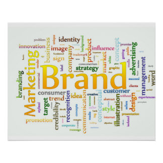 Brand and Marketing  Related Text Poster