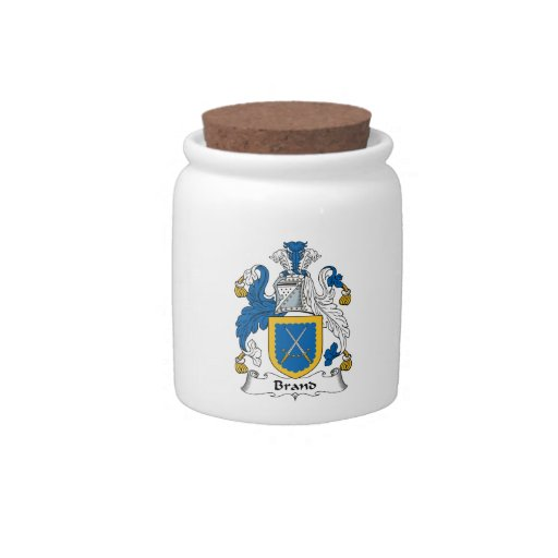 Brand Family Crest Candy Jars