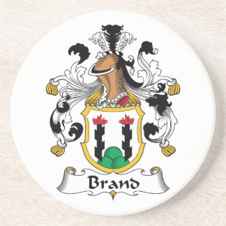 Brand Family Crest Drink Coaster