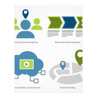 Brand management icon set letterhead