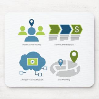 Brand management icon set mouse pad