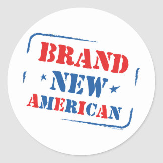 Brand New American Classic Round Sticker