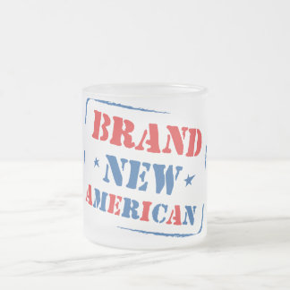 Brand New American Frosted Glass Coffee Mug