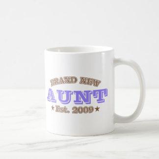 Brand New Aunt Est. 2009 (Purple) Classic White Coffee Mug
