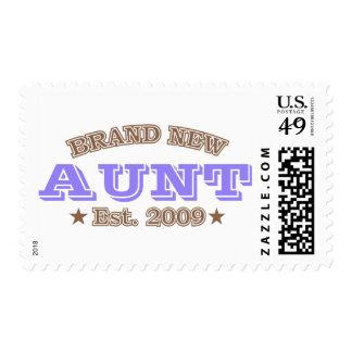 Brand New Aunt Est. 2009 (Purple) Stamp