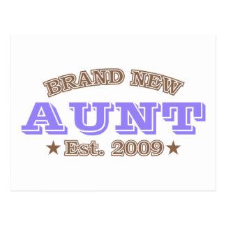 Brand New Aunt Est. 2009 (Purple) Postcard