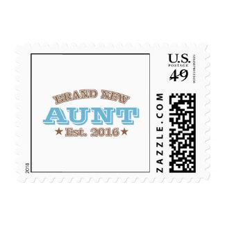 Brand New Aunt Est. 2016 (Blue) Postage