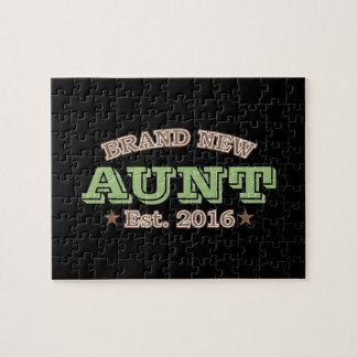 Brand New Aunt Est. 2016 (Green) Jigsaw Puzzle