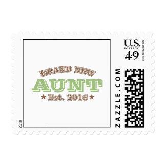 Brand New Aunt Est. 2016 (Green) Postage