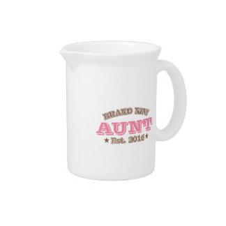 Brand New Aunt Est. 2016 (Pink) Pitcher