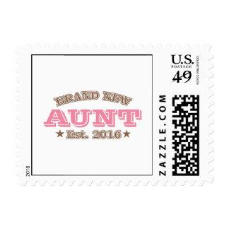 Brand New Aunt Est. 2016 (Pink) Postage