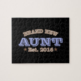 Brand New Aunt Est. 2016 (Purple) Jigsaw Puzzle