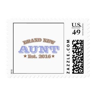 Brand New Aunt Est. 2016 (Purple) Postage