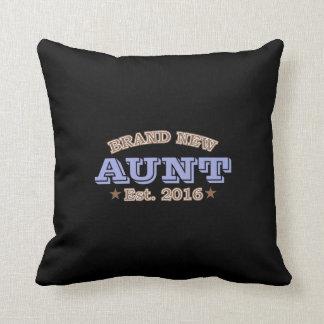 Brand New Aunt Est. 2016 (Purple) Throw Pillow