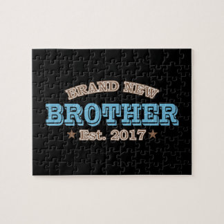 Brand New Brother Est. 2017 (Blue) Jigsaw Puzzle
