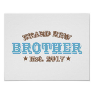 Brand New Brother Est. 2017 (Blue) Poster