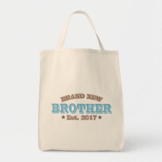 Brand New Brother Est. 2017 (Blue) Tote Bag