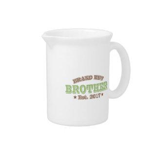Brand New Brother Est. 2017 (Green) Beverage Pitcher