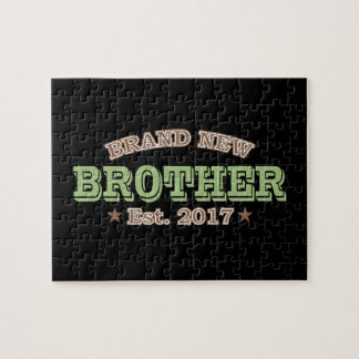 Brand New Brother Est. 2017 (Green) Jigsaw Puzzle
