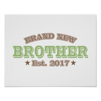 Brand New Brother Est. 2017 (Green) Poster