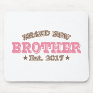 Brand New Brother Est. 2017 (Pink) Mouse Pad