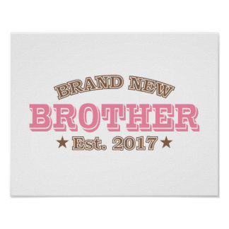 Brand New Brother Est. 2017 (Pink) Poster