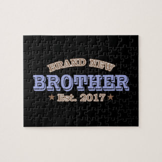Brand New Brother Est. 2017 (Purple) Jigsaw Puzzle