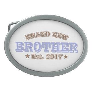 Brand New Brother Est. 2017 (Purple) Oval Belt Buckle