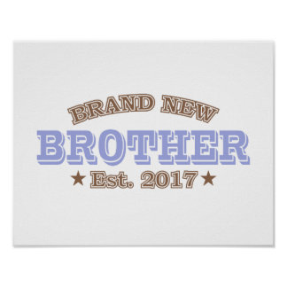 Brand New Brother Est. 2017 (Purple) Poster