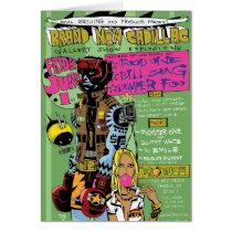 artsprojekt, brand new cadillac greeting card, jim, mahfood, food, one, 40oz, comics, clerks, grrl scouts, colt 45, stupid, page, filler, man, live art, live, art, z-trip, murs, felt, true, tales, underground, hip, hop, sarah, silverman, program, frenchpulp, mahf, earthworms, comic, books., jim mahfood, jim mahfood skateboards, food one skateboards, 40 oz comics skateboards, food one, 40 oz comics, Cartão com design gráfico personalizado