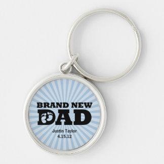 Brand New Dad Personalized Keychain