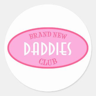 Brand New Daddies Club (Pink) Classic Round Sticker