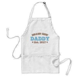 Brand New Daddy Est. 2017 (Blue) Adult Apron